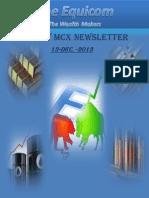 Commodity Market Newsletter 13-December