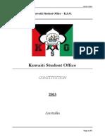 Kuwaiti Student Office - CONSTITUTION