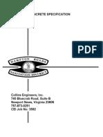Standard Concrete Specifications
