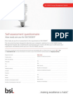 BSI ISO50001 Assessment Checklist UK En