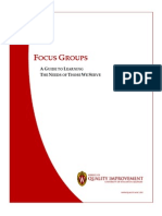 Focus Group Guide