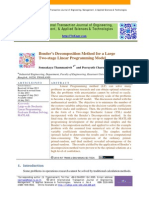Bender's Decomposition Method for a Large Two-stage Linear Programming Model