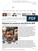 Kejriwal on Course to Ruin 2014 for BJP _ Shanti Bhushan, News - India Today