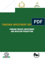 Tanzania Investment Report 2012 - Foreign Private Investment and Investor Perception