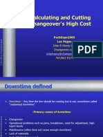 Calculating Changeovers High Cost