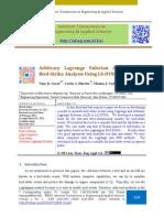 Arbitrary Lagrange Eulerian Approach for Bird-Strike Analysis Using LS-DYNA