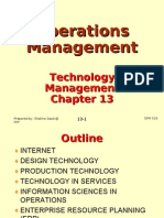 Operations Management (OPM530) -C13 Technology Management