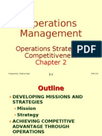 Operations Management (OPM530) -C2 Operations Strategy