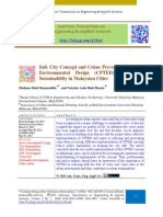 Safe City Concept and Crime Prevention Through Environmental Design (CPTED) for Urban Sustainability in Malaysian Cities