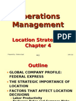 Operations Management (OPM530) -C4 Location