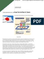 Thermoelectric Energy Harvesting in Japan - Energy Harvesting Journal