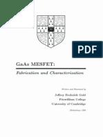 GaAs MESFET
