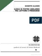 La Teologia Di Pietro Abelardo Fra Letture e Pregiudizi