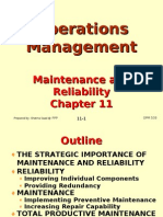 Operations Management (OPM530) C11 Maintenance