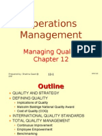 Operations Management (OPM530) -C12 Quality