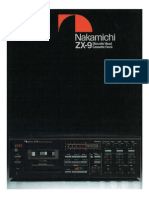 Nakamichi ZX-9 Brochure