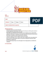 brain buster 2013questions