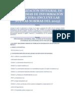 ACTUALIZACIÓN INTEGRAL DE LAS NORMAS DE INFORMACIÓN FINANCIERA