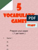 40325474 Vocabulary Games