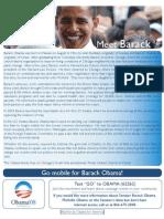 Barack Obama 08 Go Mobile Flyer