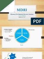MDRI-CSIS
