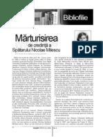 Marturisirea de Credinta a Spatarului Nicolae Milescu