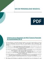 TRASTORNOS DE PERSONALIDAD SEGÚN EL DSM-IV