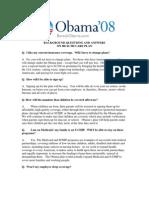 Barack Obama 08 Healthcare FAQ