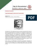 A. Gramsci - Espontaneidad y Direccion Consciente