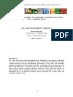 Ijccr Vol 14 2010 a17 28 Mouatt the Case for Monetary Diversity