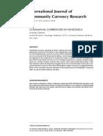 Ijccr-2011-Dittmer - Communal Currencies in Venezuela