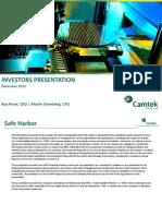 Camtek Dec13 Presentation