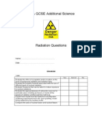 Radiation Questions