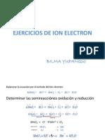 Ejercicios de Ion Electron