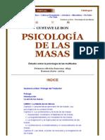 Le Bon - Psicología de las Masas