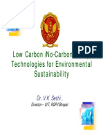 Low Carbon /No-Carbon Energy  Technologies for Environmental  Sustainability Technologies for Enviroronment
