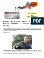 Soldado da Polícia Militar é assassinado durante tentativa de assalto em Campina Grande
