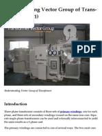 Understanding Vector Group of Transformer