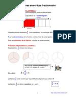nombres en écriture fractionnaire (6ème)