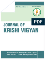 Journal of Krishi Vigyan Vol. 2 Issue 1 (2013)