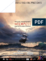 The Tempest Playbill, 2013