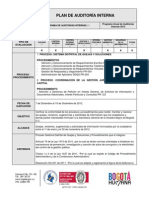 Plan de Auditoria Interna Sdqs Subdireccion de Calidad