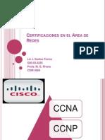 certificaciones en el area de redes liz