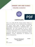 Praveen Kumar Shetty (Karnataka Bank Project)