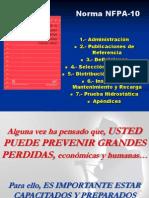 Normas NFPA 10 Manejos de Extintores