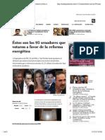 ¡Éstos son! ¡Éstos son!... los 95 senadores que votaron a favor de la reforma energética - Aristegui Noticias