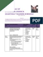 BSJ TRAINING Jan- Mar 2014- 4th Quarter Schedule