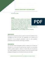 La filosofía de la educación y sus significados