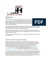 Introductory Guide to Ring of Honor Wrestling
