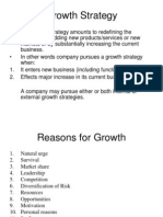 Growth Strategies, Expansion strategies,